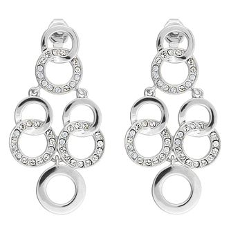 Adore Signature Interlocking Ring Chandelier Drop Earrings - Product number 4475453