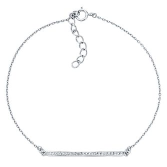 Evoke Rhodium Plated Crystal Bar Bracelet - Product number 4475801