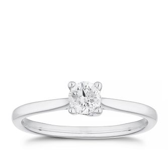 18ct White Gold 1/3ct Diamond Solitaire Ring - Product number 4476387