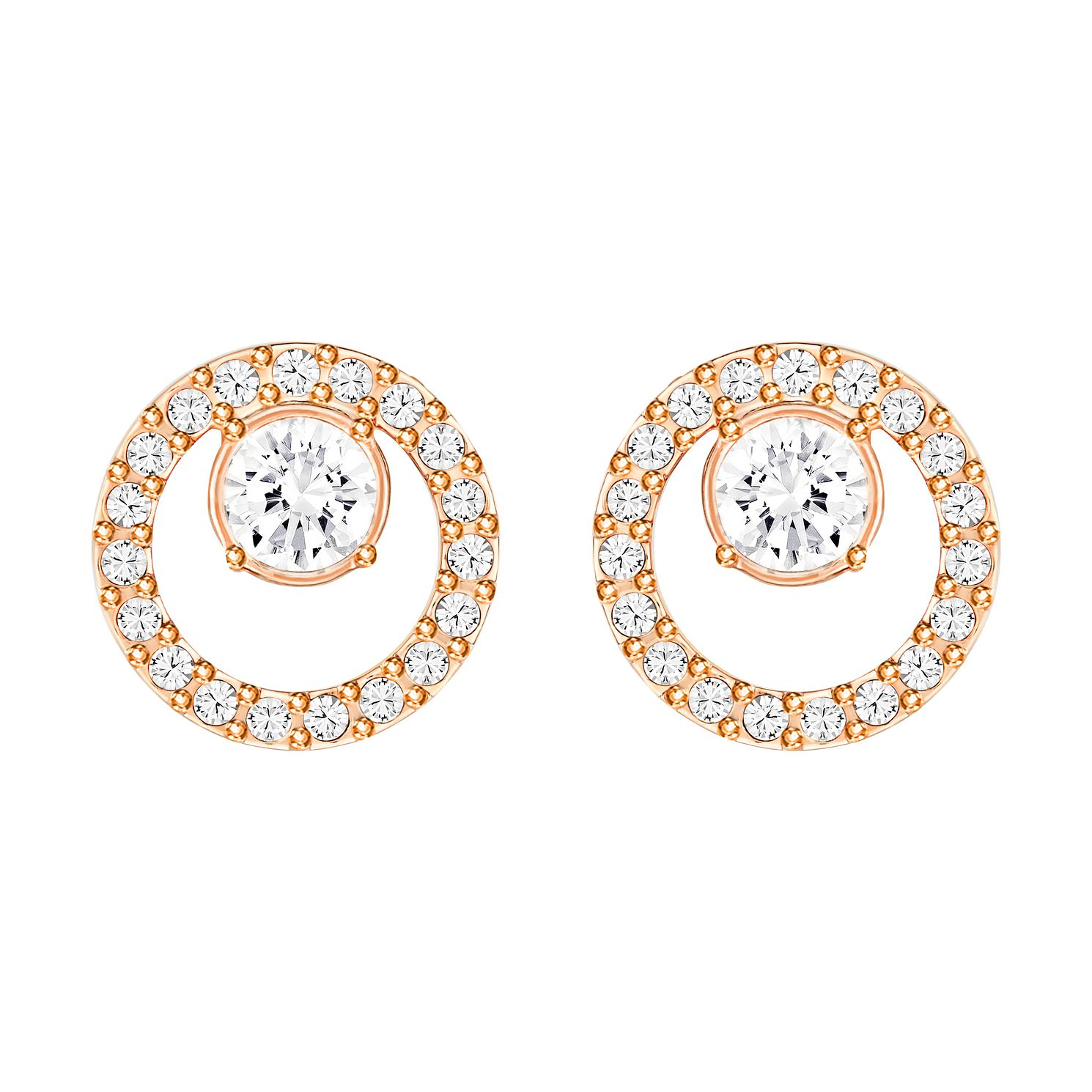 Swarovski Creativity Rose Gold Plated Circle Small Earring - Product number 4476506
