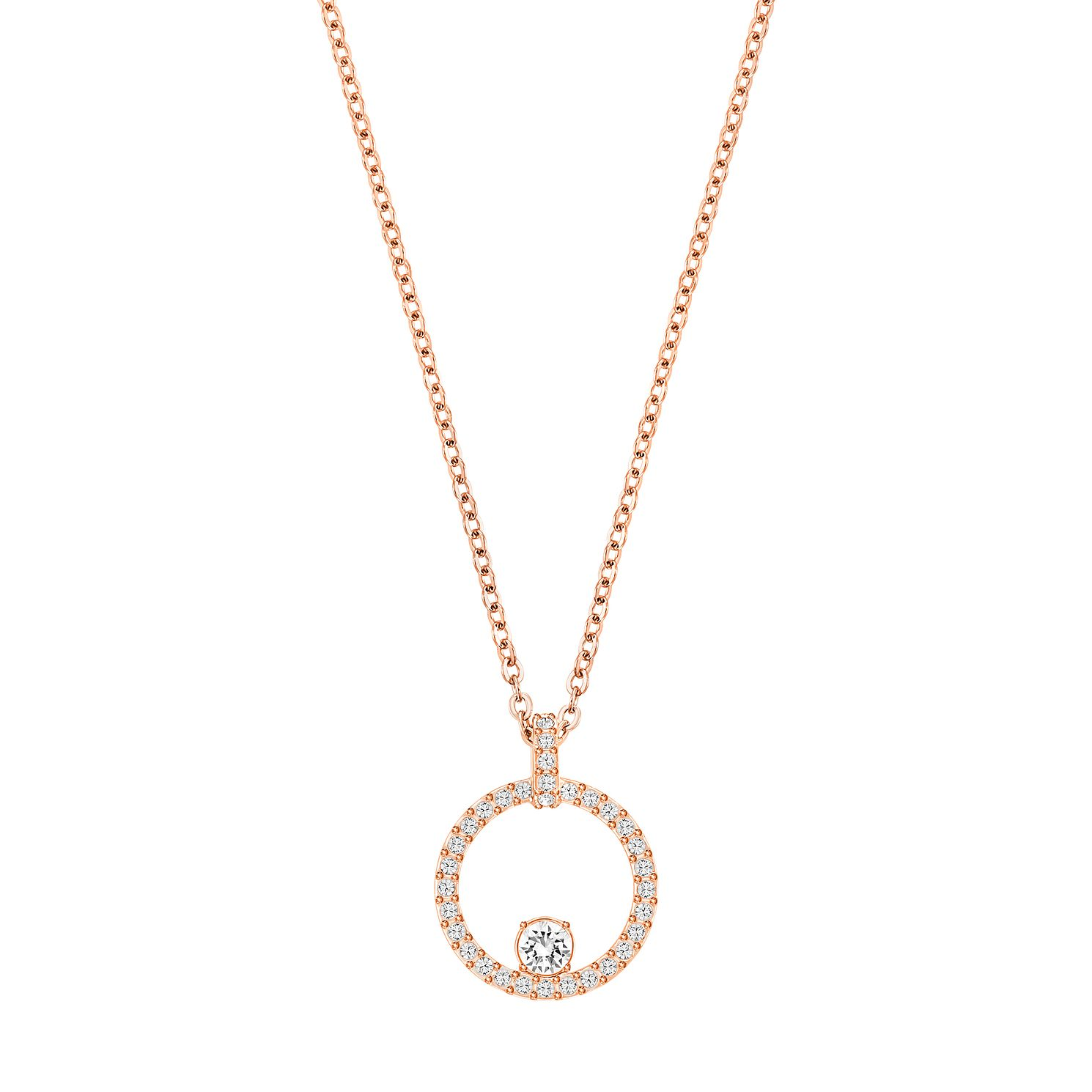Swarovski Creativity Rose Gold Plated Circle Pendant - Product number 4476522
