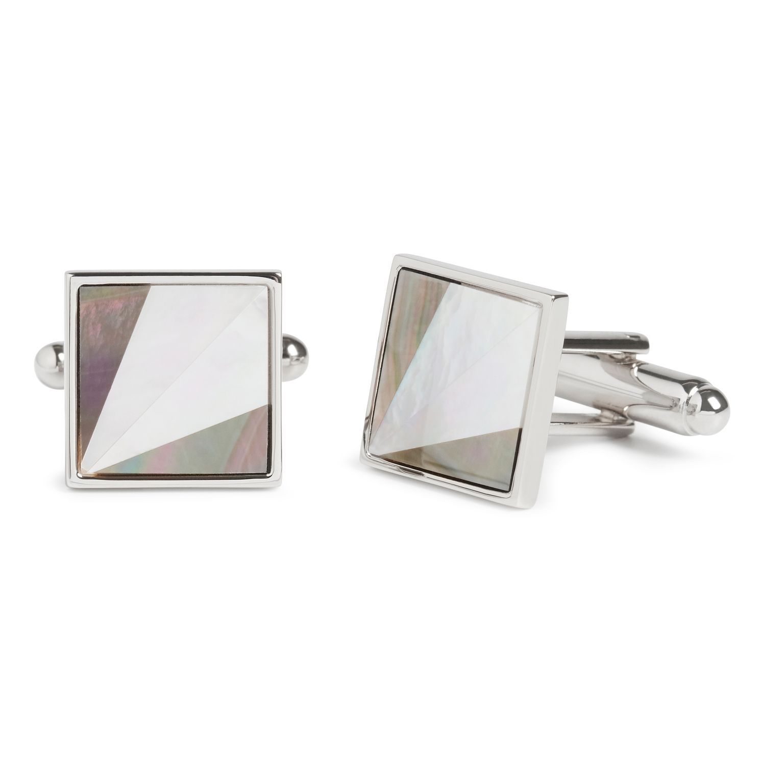 Simon Carter Mother Of Pearl Grey Cufflinks - Product number 4476794