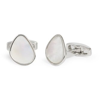 Simon Carter Mother Of Pearl White Pebble Cufflinks - Product number 4476913