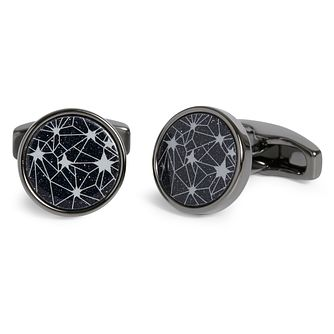 3926a6d94649 Simon Carter Navy Galaxy Round Cufflinks - Product number 4477065