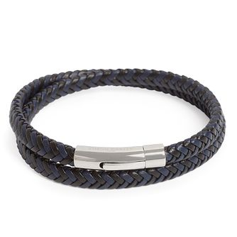 Simon Carter Navy Woven Leather Double Bracelet - Product number 4477154