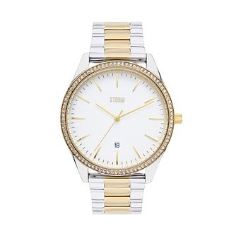 Storm Ladies' Stainless Steel Two Tone Bracelet Watch - Product number 4477588