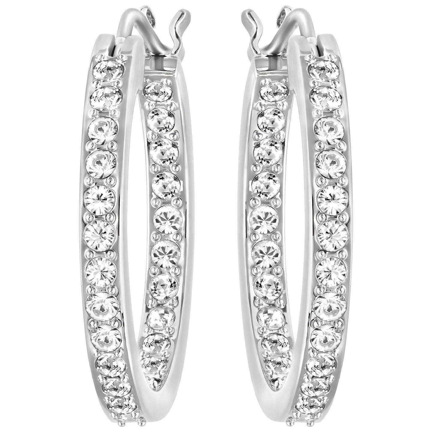 Swarovski Somerset Rhodium Plated Crystal Hoop Earrings - Product number 4477634