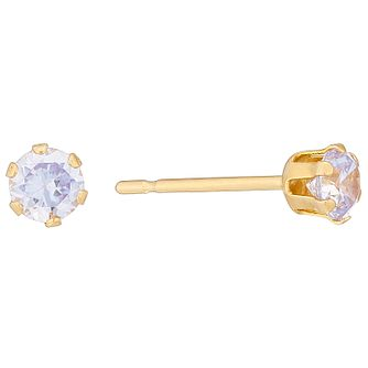 9ct Yellow Gold Cubic Zirconia 3mm Stud Earrings - Product number 4478762