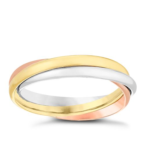 6a4b79bf4a27b6 9ct Gold 3 Colour Russian Wedding Ring - Product number 4479564