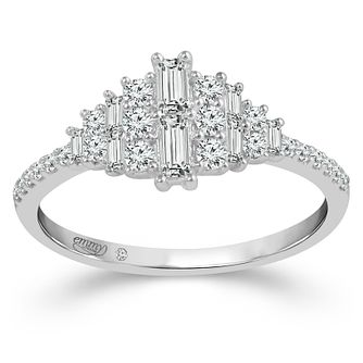 Emmy London 18ct White Gold 2/5ct Diamond Cluster Ring - Product number 4486072