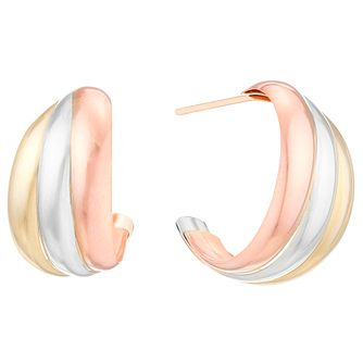 9ct Gold 3 Colour Wedding Earrings - Product number 4487400