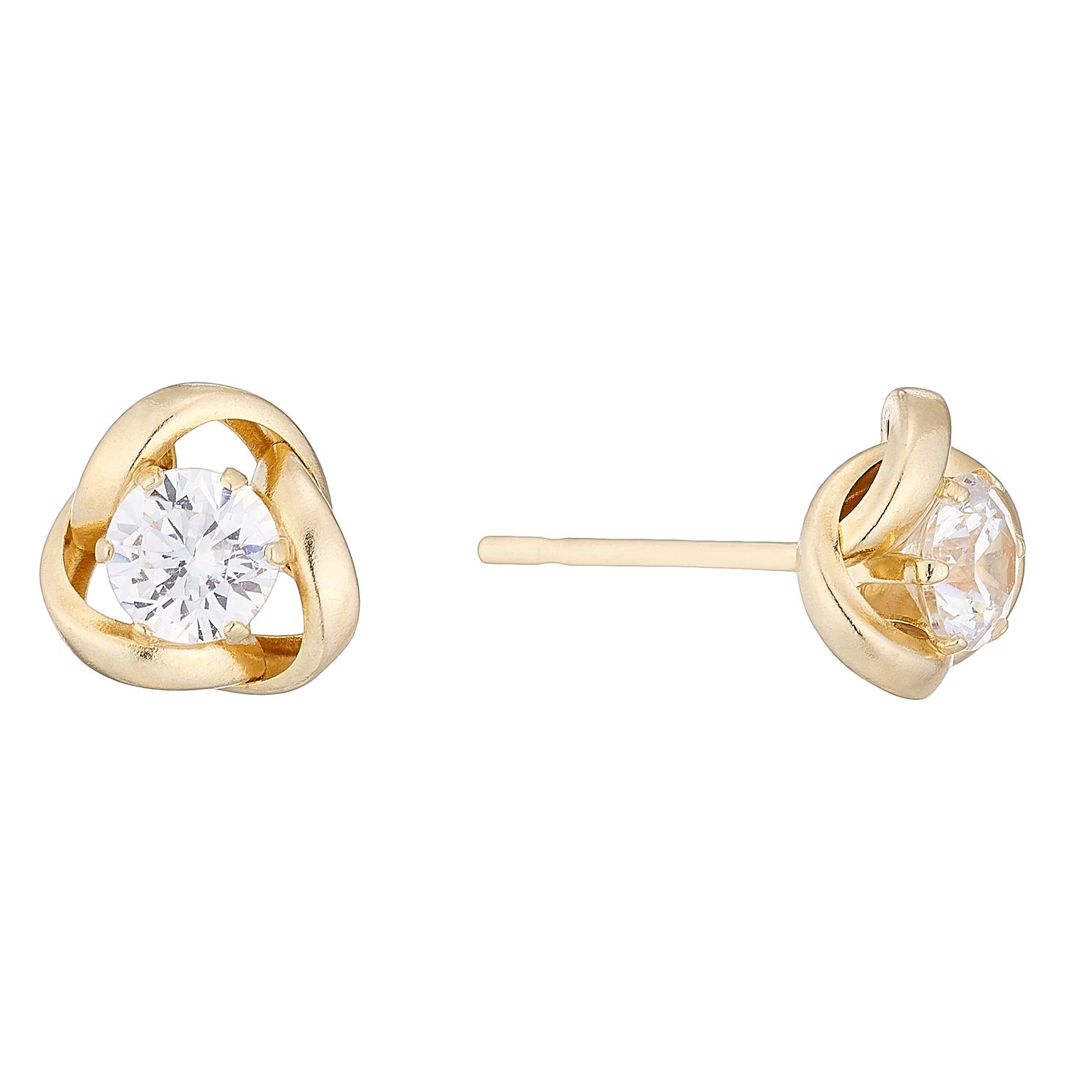 9ct Cubic Zirconia Knot Stud Earrings - Product number 4487508