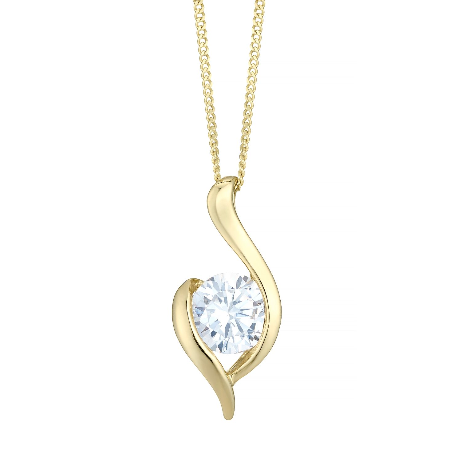 9ct Gold Cubic Zirconia Pendant - Product number 4487605