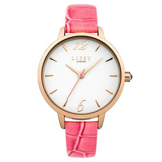 Lipsy Ladies' White Dial Coral PU Strap Watch - Product number 4488474