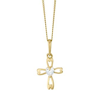 70b901717ba86 Children s 9ct Yellow Gold Cubic Zirconia Cross Pendant - Product number  4490150