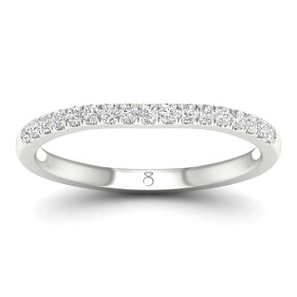 The Diamond Story Platinum 0.15ct Diamond Wedding Ring - Product number 4490738