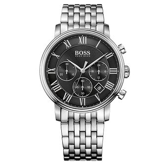 Hugo Boss Chronograph Men's Stainless Steel Bracelet Watch - Product number 4492021