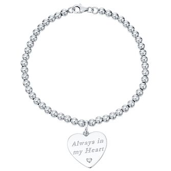 Sterling Silver & 9ct Gold Always In My Heart Bracelet - Product number 4492188
