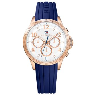 Tommy Hilfiger Ladies' Blue Rubber Strap Watch - Product number 4494806