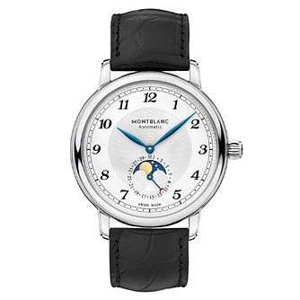 Montblanc Star Legacy Men's Black Leather Strap Watch - Product number 4495098