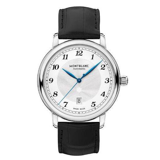 Montblanc Star Legacy Man's Black Leather Strap Watch - Product number 4495128
