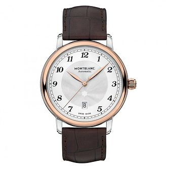 Montblanc Star Legacy Men's Brown Leather Strap Watch - Product number 4495314