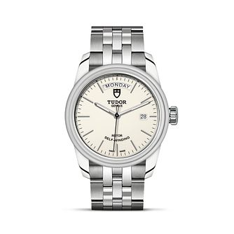 Tudor Glamour Date & Day Men's Opaline Bracelet Watch - Product number 4495942