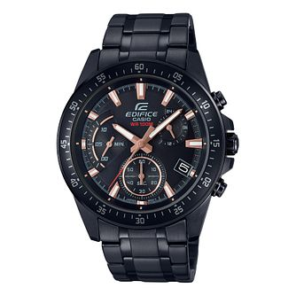Casio Edifice Men's Black Stainless Steel Bracelet Watch - Product number 4499204