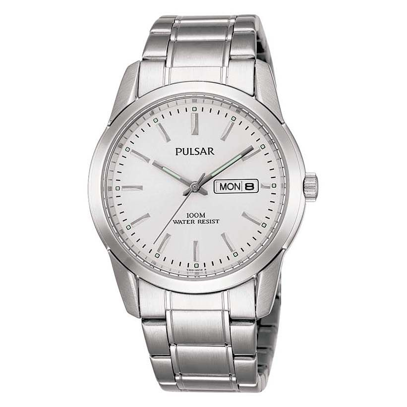 Pulsar Men's Stainless Steel Silver Dial Bracelet Watch - Product number 4499433