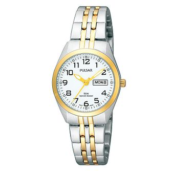 Pulsar Women's Two Tone White Dial Bracelet Watch - Product number 4499638