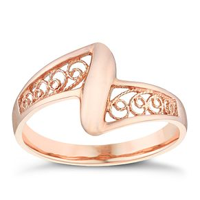 9ct Rose Gold Filigree Ring - Product number 4500180