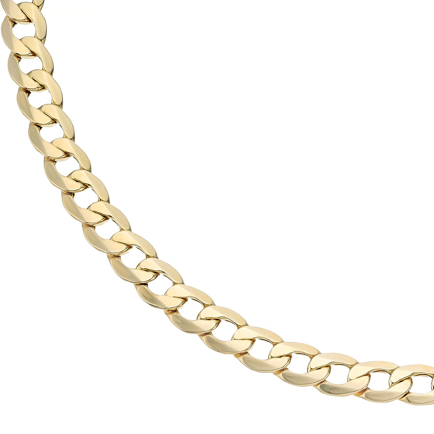 9ct Yellow Gold 22 Inch Curb Chain - Product number 4501624