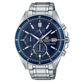 Casio Edifice Men's Solar Powered Steel Bracelet Watch - Product number 4503236