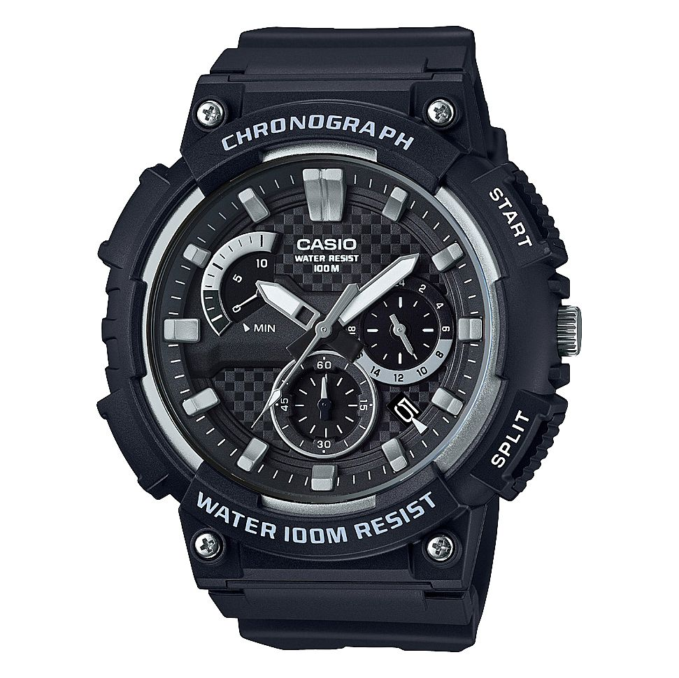 Casio Men's Black Resin Strap Chronograph Watch - Product number 4503244
