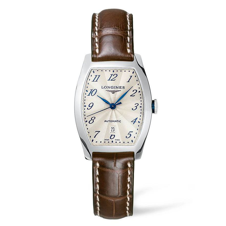 Longines Evidenza Men's Brown Leather Strap Watch - Product number 4503341