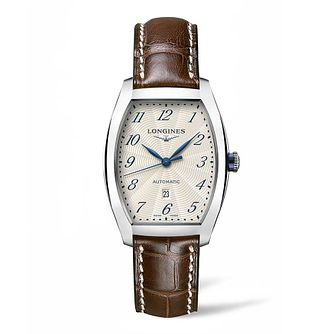 Longines Evidenza Ladies' Brown Leather Strap Watch - Product number 4503430