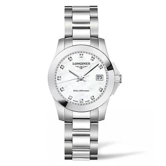 Longines Conquest Ladies' Diamond Bracelet Watch - Product number 4504046