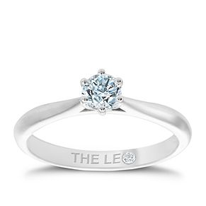 Leo Diamond 18ct White Gold 1/3ct Diamond Solitaire Ring - Product number 4504100