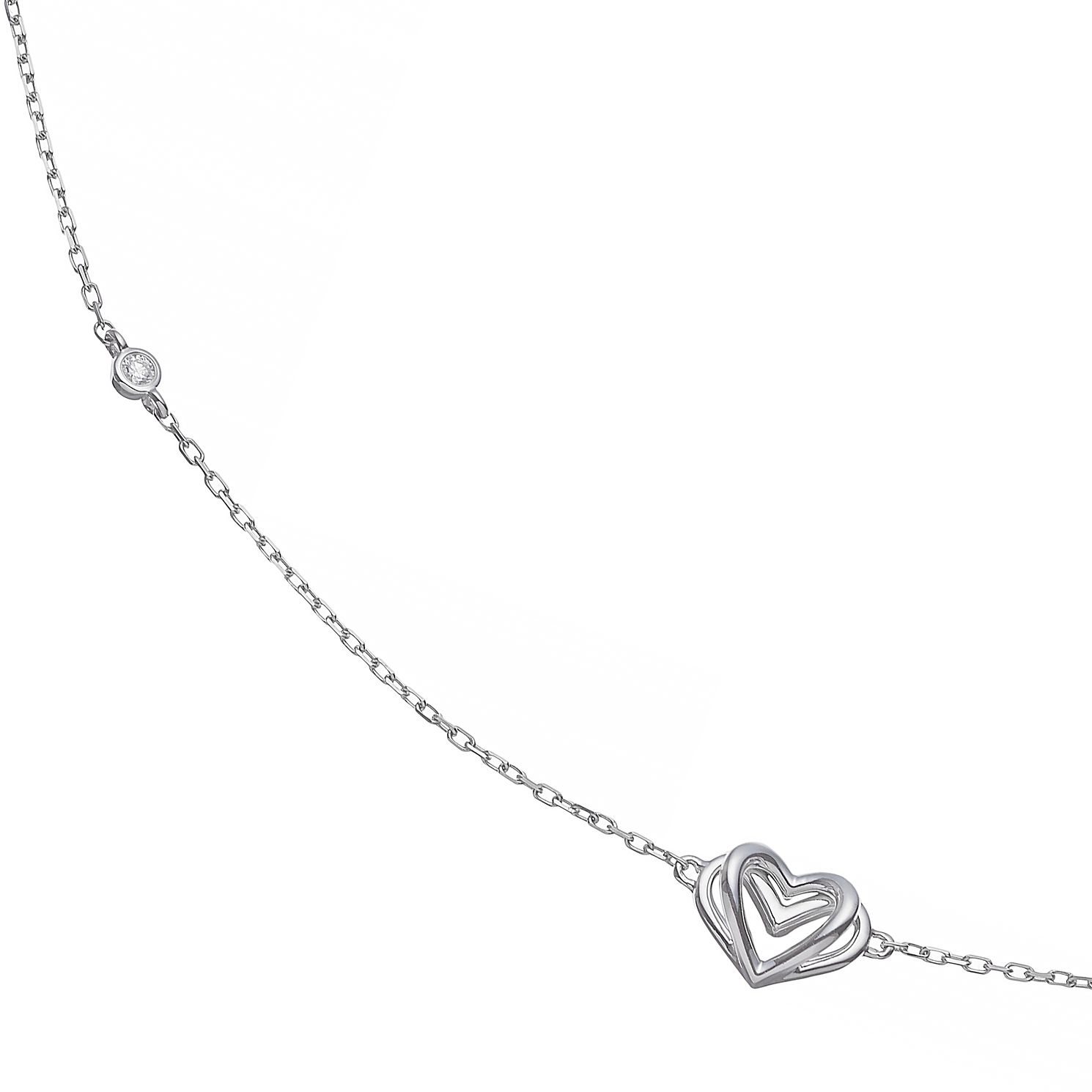 Vera Wang Sterling Silver Diamond Kindred Heart Necklace - Product number 4504267