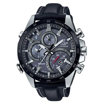 Casio Edifice Men's Bluetooth Link Leather Strap Watch - Product number 4505263