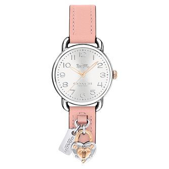 Coach Delancey Ladies' Stainless Steel Pink Strap Watch - Product number 4505298