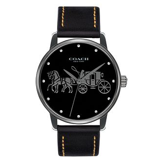 Coach Grand Ladies' Black Ion Plated Strap Watch - Product number 4505352