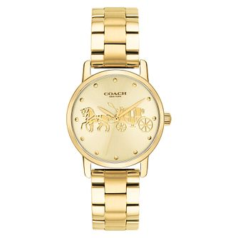 Coach Grand Ladies' Yellow Gold tone Bracelet Watch - Product number 4505581