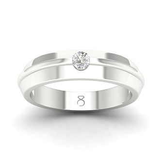 The Diamond Story 18ct White Gold 0.18ct Diamond Ridged Ring - Product number 4505921
