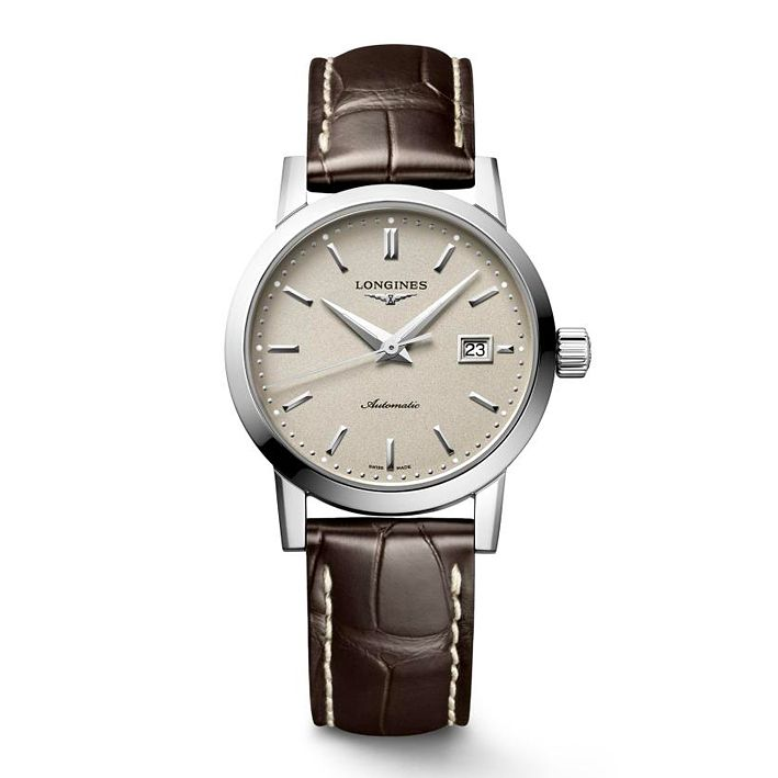 Longines 1832 Ladies' Brown Leather Strap Watch - Product number 4506103