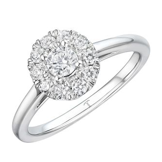Tolkowsky 18ct White Gold 1/2ct Halo Engagement Ring - Product number 4506189