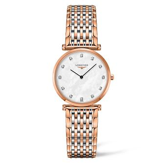 Longines La Grande Classique Ladies' Diamond Two-Tone Watch - Product number 4506332