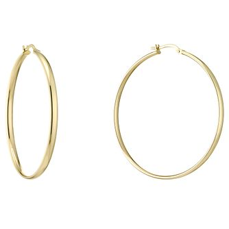 9ct Yellow Gold 45mm Hoop Earrings - Product number 4506456