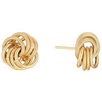 9ct Gold Large 4 Strand Knot Earrings - Product number 4506472