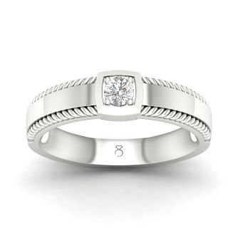 The Diamond Story 18ct White Gold 0.18ct Diamond Edge Ring - Product number 4506677